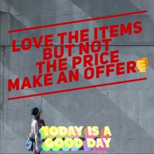 Make an offer on the items you like..!